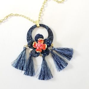 LILLY PULITZER High Tide Maritime Tassel Necklace